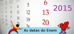 Datas do Enem 2015, vestibular