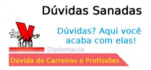 Dúvida na Carreira de Diplomacia, diplomata