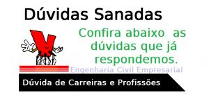 Dúvida de Carreiras Engenharia Civil Empresarial, profissão