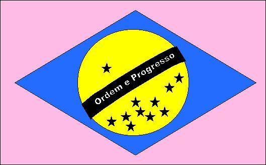 Hora do recreio, as cores da bandeira do Brasil. Enxergue melhor.