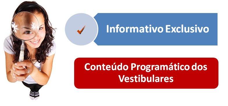 Conteúdo Programático dos Vestibulares por Vestibular1