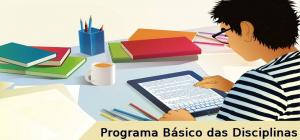 Programa Básico das Disciplinas, vestibular