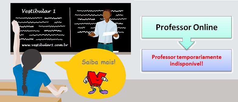 Professor temporariamente indisponível em Vestibular1