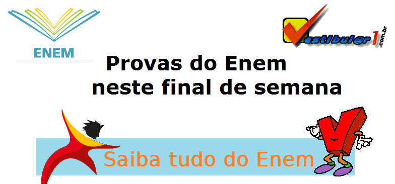 Provas do Enem neste final de semana