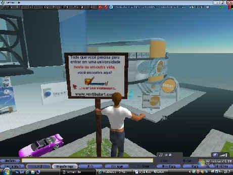 Vista de um sobrevoo de nosso avatar: Vestibular1 Romano