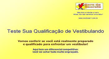 Teste Sua Qualificação de Vestibulando por Vestibular1