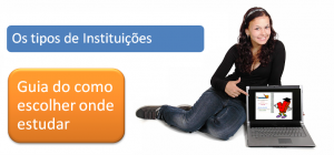 Guia de como escolher onde estudar - Os Tipos de Instituições enem Vestibular