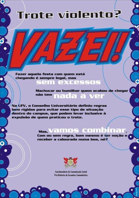 Trote Violento, Vazei! Vestibular1