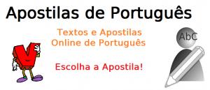 apostilas de português, assuntos selecionados para vestibular e enem