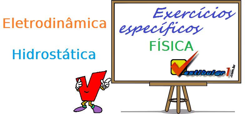 Física - Eletrodinâmica - Hidrostática exercícios específicos