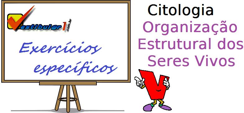 Biologia - Citologia Organização Estrutural dos Seres Vivos exercícios específicos enem vestibulares