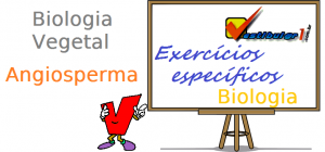 Biologia Vegetal - Angiosperma exercícios específicos enem vestibulares
