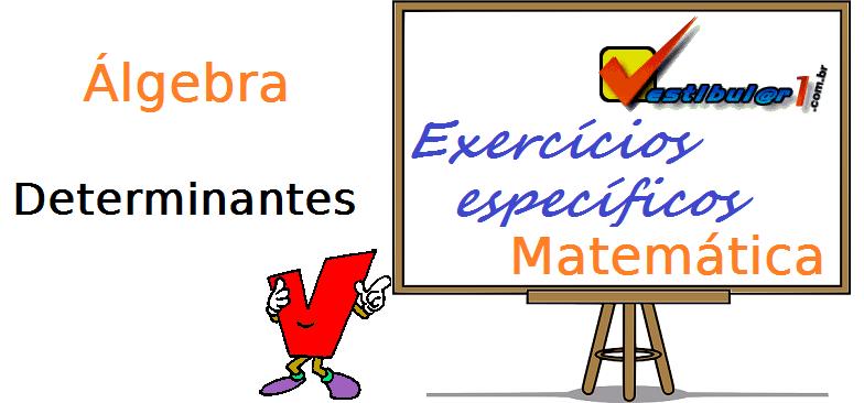 Álgebra - Determinantes matemática exercícios específicos enem vestibular