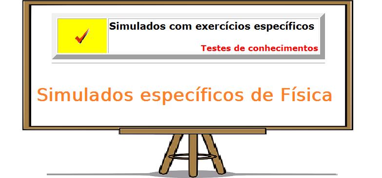 Exercícios específicos de física exercícios específicos vestibular enem