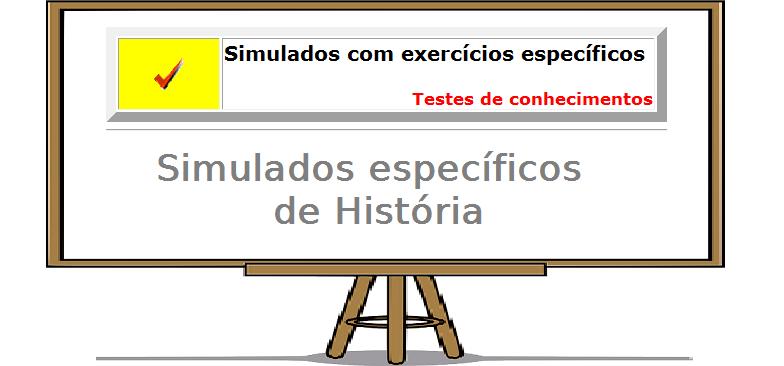 exercicios específicos de História exercícios enem vestibular