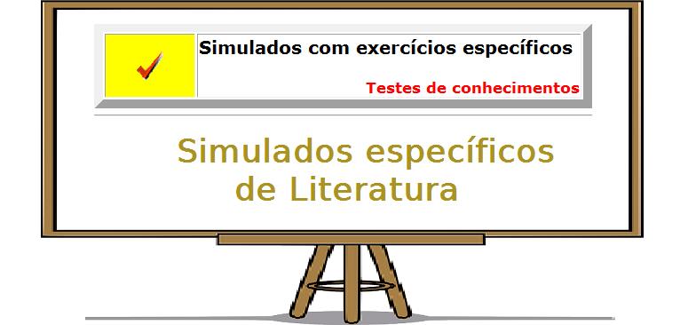 Exercícios específicos de Literatura exercicios com gabarito enem vestibular