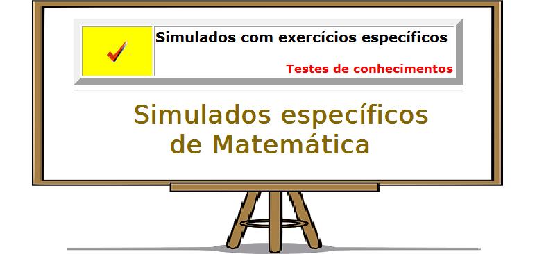 Exercícios específicos de Matemática índice vestibular enem