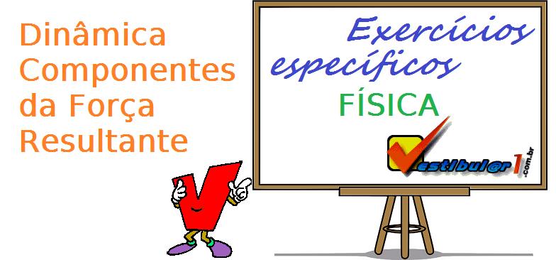 Física - Dinâmica Componentes da Força Resultante exercícios específicos vestibular enem