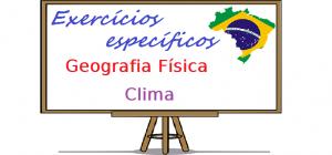 Exercício específico de Geografia Física - Clima enem vestibular