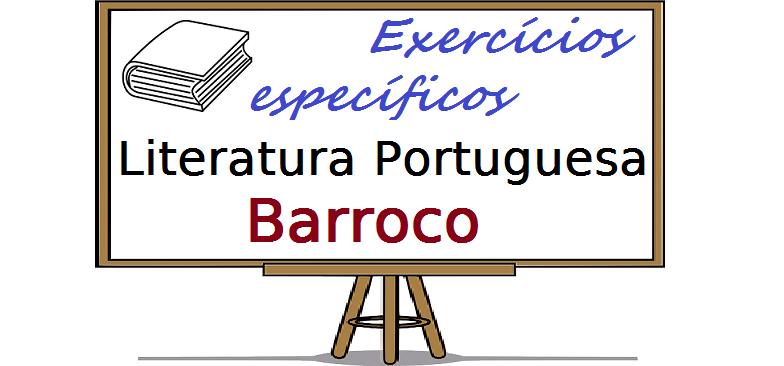 Literatura Portuguesa - Barroco exercícios específicos enem vestibulares