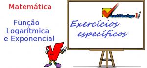 Função Logarítmica e Exponencial, matemática exercícios específicos enem vestibular