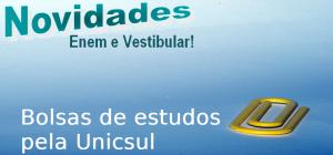 Bolsas de estudos pela Unicsul, vestibular