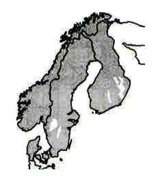 Geografia Geral Organização Europeia mapa do litoral norte da Europa