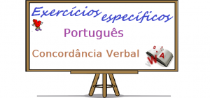 Português - Concordância Verbal. Exercício específico gabarito. Vestibulares