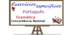 Português - Gramática Concordância Nominal exercícios específicos enem vestibular