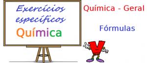 Química Geral Fórmulas exercícios específicos enem vestibular