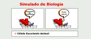 Biologia - Célula Eucarionte Animal simulado com gabarito enem vestibular