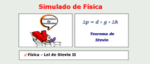 Física - Lei de Stevin II simulado com gabarito matéria específica enem vestibulares