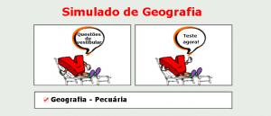 Geografia - Pecuária simulado de matérias específicas com gabarito enem vestibulares