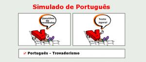 simulado matéria específica de Português - Trovadorismo, gabarito