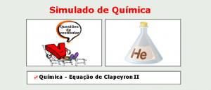 Química - Equação de Clapeyron II Simulado matérias específicas de Química com gabarito enem vestibular