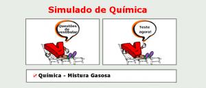 Química - Mistura Gasosa Simulado matérias específicas de Química com gabarito enem vestibular