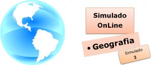 Simulado online com gabarito de Geografia 03, enem vestibulares