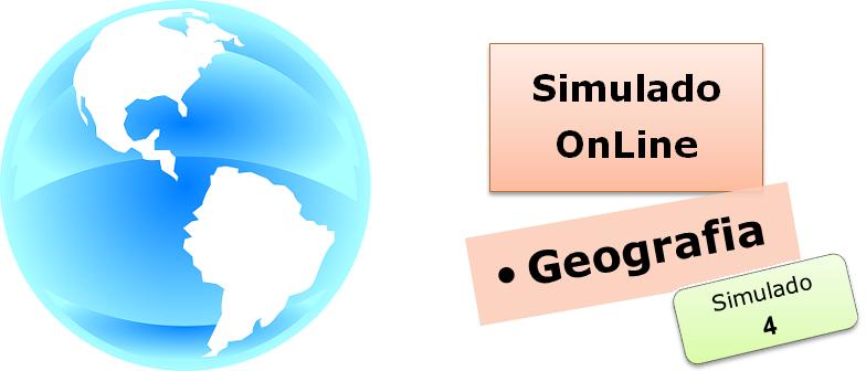 Simulado online com gabarito de Geografia 04 enem vestibulares