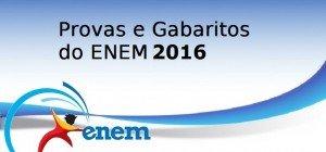 Provas e Gabaritos do ENEM 2016 - 1o. Diae 2o. Dia, Vestibular1