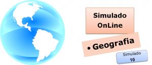 Simulado online com gabarito de Geografia 10 enem vestibular
