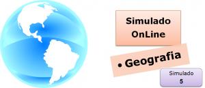 Simulado online com gabarito de Geografia 05 enem vestibulares