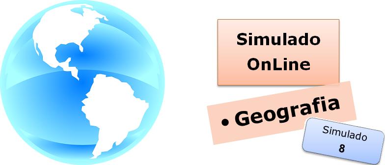 Simulado online com gabarito de Geografia 08 enem vestibulares