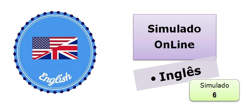 Simulado online com gabarito de Inglês 06 enem vestibular
