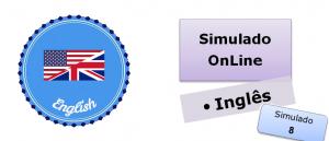 Simulado online com gabarito de Inglês 08 vestibulares enem
