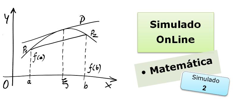 Simulado online com gabarito de Matemática 02 enem vestibulares
