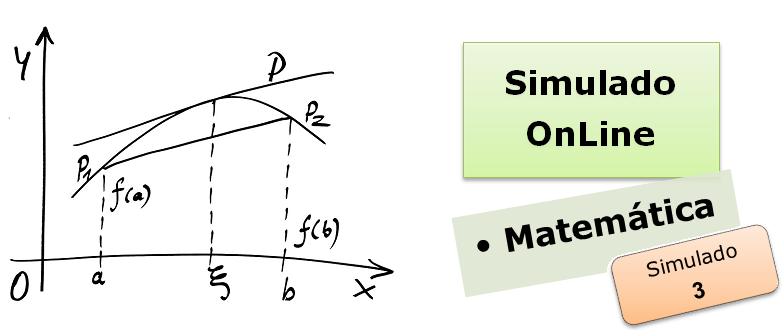 Simulado online com gabarito de Matemática 03 enem vestibulares