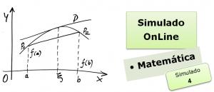 Simulado online com gabarito de Matemática 04 enem vestibular