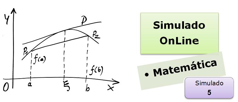 Simulado online com gabarito de Matemática 05 vestibulares enem