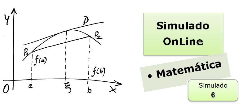 Simulado online com gabarito de Matemática 06 vestibulares enem