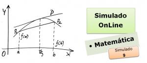 Simulado online com gabarito de Matemática 09 enem vestibulares